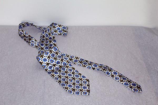Poze Cravata flori albastre Yves Saint Laurent