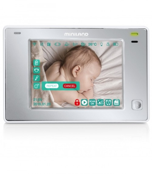 "Poze Interfon video monitorizare copii 3.5"" Touch Miniland"