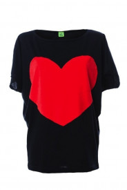 Tricou Heart - Black