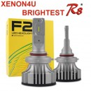 KIT Becuri LED High Power F2 faza scurta/lunga 36w 12v, 24v - H1, H7, H4, D2 6000k (6000 Lumeni)