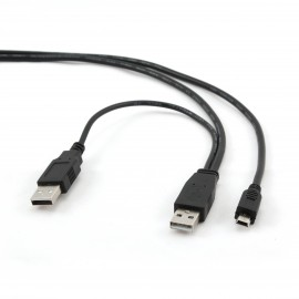 Slika Gembird Mini USB Y-Cable 90cm
