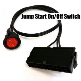Slika Jump Start EPS/ATX 24 Pin Power Supply Jumper On/Off Switch (Red Light, 50cm)