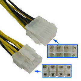 Slika 8 pin Male to 8 pin Female (EPS12V) Power Extension Cable (30cm)