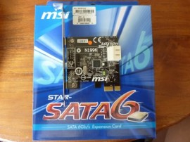 Slika MSI Star-SATA6 2-Port SATA III (6.0Gb/s) PCI-Express 2.0 x1 Controller Card