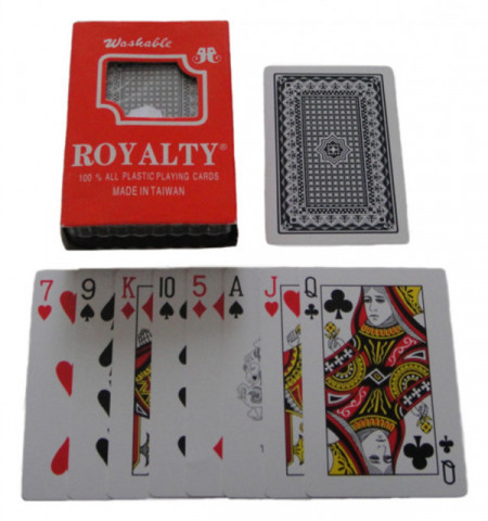 Slika ROYAL 100% Plastic Washable Playing Cards (100% Plastične, Perive, Karte Za Igru)
