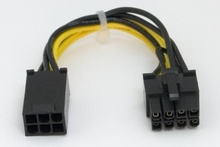 PCI-Express 8 Pin Power Adapter from Single 6 Pin