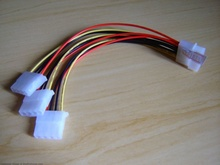 MOLEX 4-Pin 1-to-3 Splitter Power Cable (20cm)