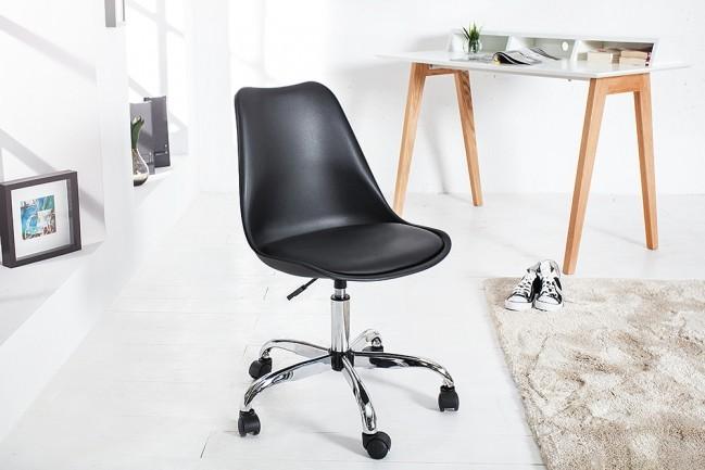 Bureaustoel Zwart Design.Retro Design Klassieker Bureaustoel Scandinavia Zwart Met Een Hoge