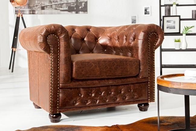 Vintage Bruin Leren Bank.Hoge Kwaliteit Lederen Sofa Chesterfield 1 Zits Vintage Bruin