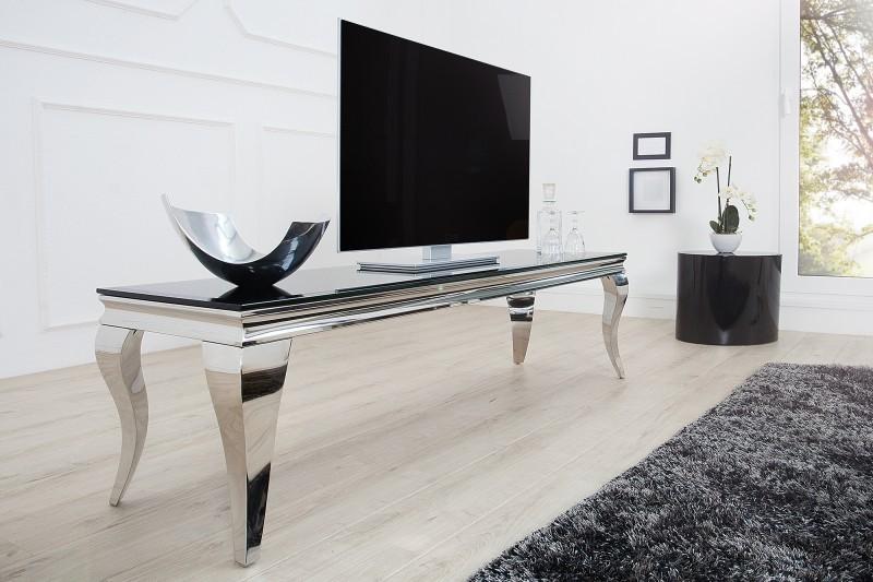 Barok Stoelen Zilver Zwart.Tv Meubel Moderne Barok 160 Cm Zwart Zilver 37749