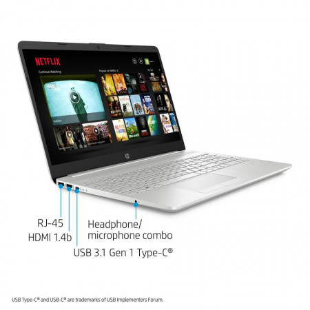 "Slika HP 15s-fq1003na 8UD82EAR Silver 39.6 cm (15.6"") FullHD 10th gen Intel® Core i5 8 GB DDR4-SDRAM 512 GB SSD Wi-Fi 5 (802.11ac) Windows 10 Home"