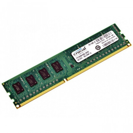 Slika Crucial RAM 4GB DDR3L 1600 MT/s (PC3L-12800) CL11 Unbuffered UDIMM 240pin 1.35V/1.5V Single Ranked