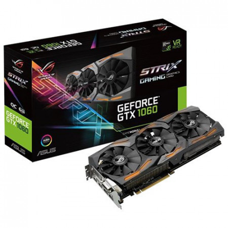 Slika ASUS nVidia GeForce GTX 1060 6GB GDDR5 192bit - STRIX-GTX1060-6G-GAMING PCI Express 3.0, Nvidia, Nvidia GeForce GTX 1060, 6GB