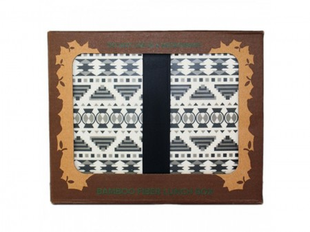 Snack Box Aztec White Black - Woodway immagini