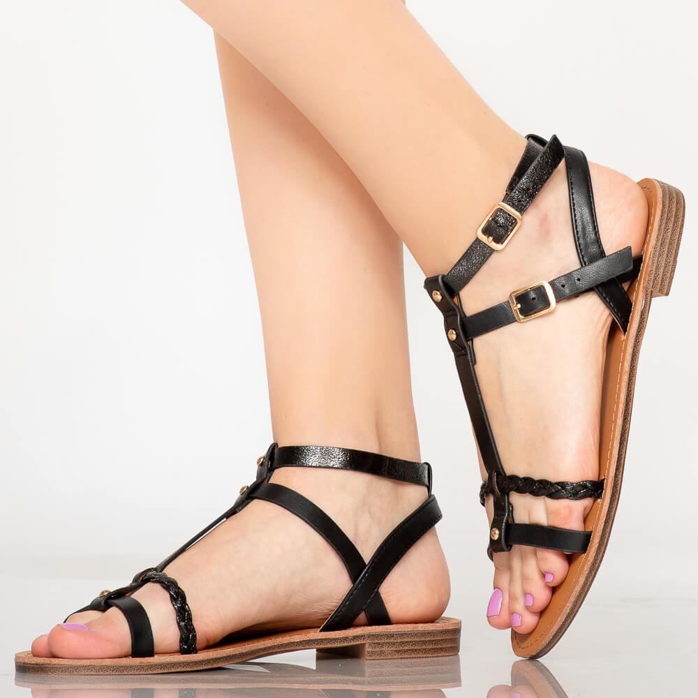 Sandale piele naturala Bin rosii