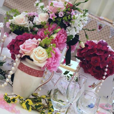 aranjament floral romantic
