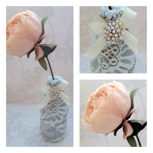aranjament floral dantela