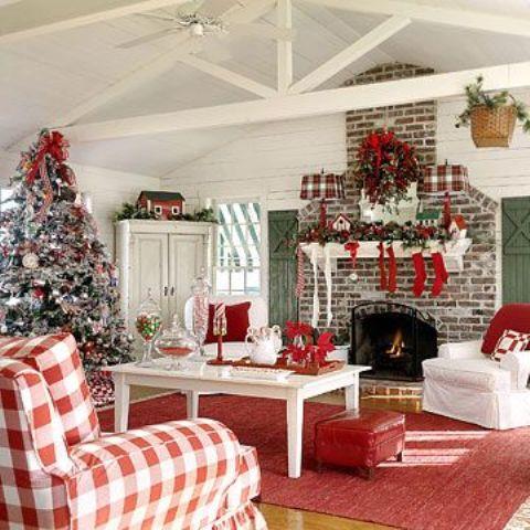 christmas-living-room-decor 22
