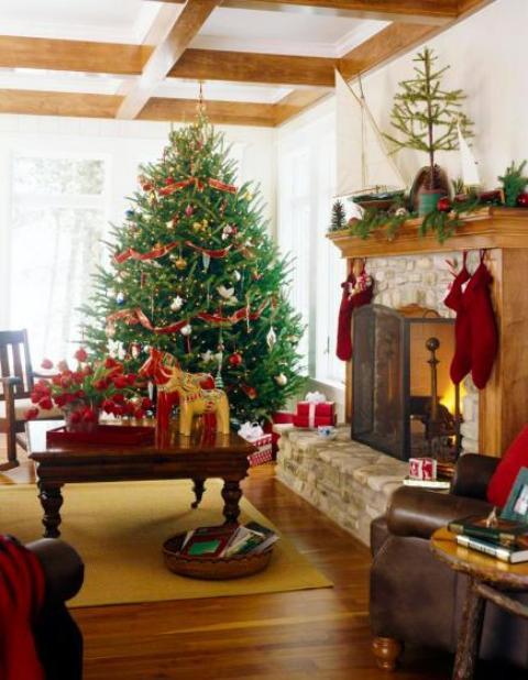 christmas-living-room-decor 32
