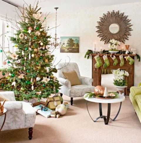 christmas-living-room-decor 34