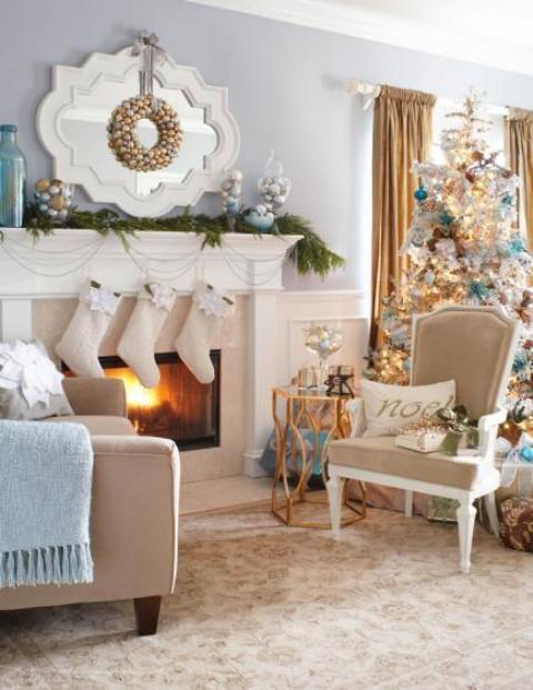 christmas-living-room-decor 36