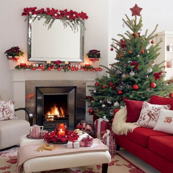 christmas-living-room-decor 38