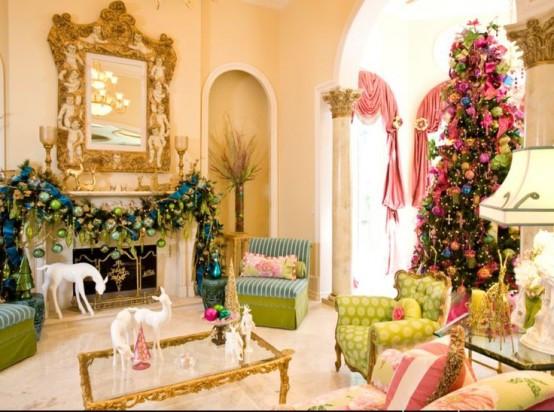 christmas-living-room-decor 4
