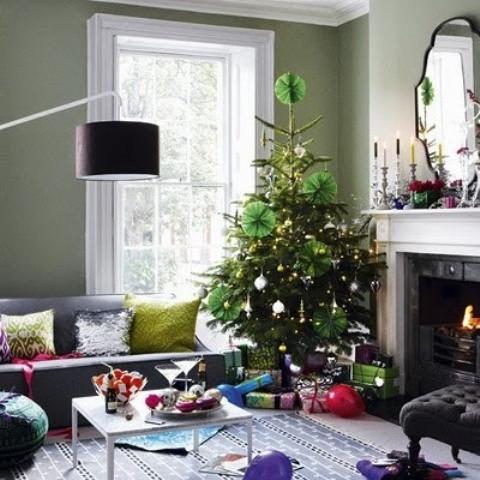 christmas-living-room-decor 5