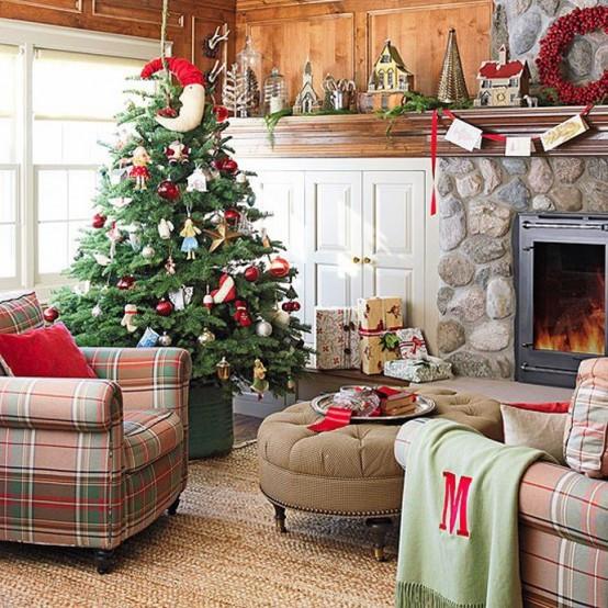 christmas-living-room-decor 7