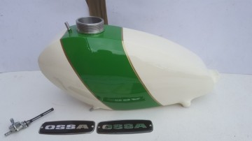 OSSA MICK ANDREWS GAS TANK ALLOY NEW OSSA MICK ANDREWS PETROL TANK ALLOY OSSA MAR GAS TANK ALLOY imágenes