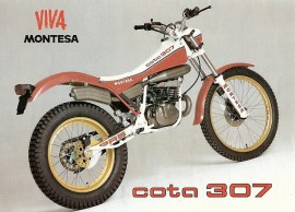 MONTESA COTA 307 SET FENDERS FRONT AND REAR MUDDGUARDS COTA 307 imágenes