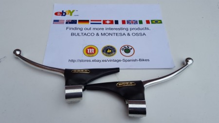NEW OSSA EXPLORER A PAIR OF GENUINE FORGED AMAL POLISHED LEVERS imágenes