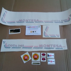 MONTESA COTA 248 KIT DECALS FULL BIKE NEW imágenes