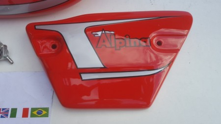 BULTACO ALPINA 188 GAS TANK AND SIDE PANELS NEW BULTACO ALPINA 188 SET BODY PARTS FULL BIKE NEW imágenes