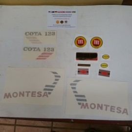 MONTESA COTA 123 KIT DECALS FULL BIKE NEW imágenes