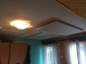 Panou radiant instalat pe tavan
