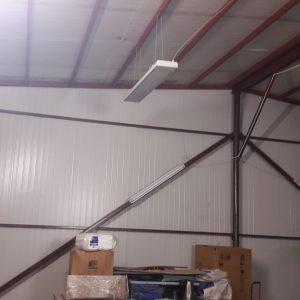 Panou radiant industrial Ecosun S+ instalat in hala industriala