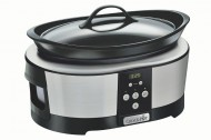 Aparat de gatit Crock Pot slow cooker 5.7 L, Digital, argintiu