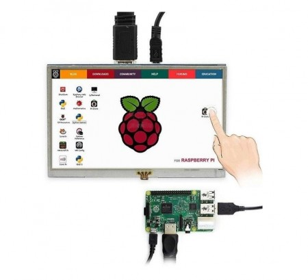 Poze Display capacitive touch screen 7 inch Raspberry Pi 800x480