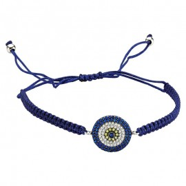 Turkish Evil Eye Silver Bracelets  Macrame Jewelry Wholesale images