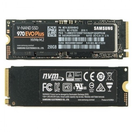 Slika SSD 250GB SAMSUNG 970 EVO Plus, MZ-V7S250BW, M.2 PCIe 3.0 x4, (NVMe 1.3), up to 3500/3300 MB/s