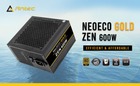 Slika Napajanje 600W ANTEC NE600G ZEN, NEO ECO GOLD, 80+ Gold, 12cm silent fan, Active PFC, up to 92% efficient
