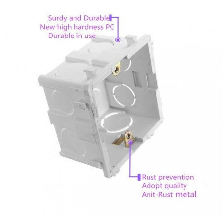 Poze Doza aparat British Standard | Wall Plate Box Universal White Socket Switch Back Cassette