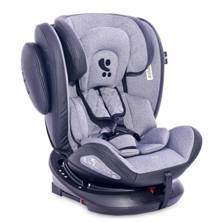 Slika Auto sedište Aviator Isofix Black / Light Grey 0-36kg