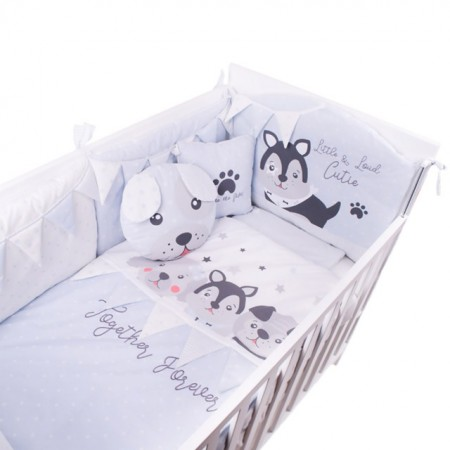 Slika Posteljina My Baby Woof family Light Blue set 8/1