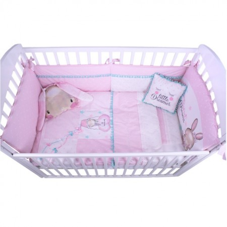 Slika Posteljina My Baby Fashion Bunny Light Pink set 8/1