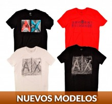 8 playeras Armani Exchange para caballero