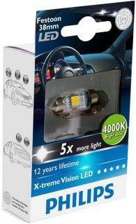 Bec Led C5W Festoon 38mm Philips 4000k
