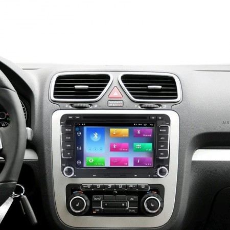 Navigatie V510S Android 9.1 2Gb RAM memorie interna 32Gb WIFI USB GPS pentru VW Passat Golf