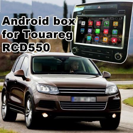 Retrofit Modul GPS SATNAV cu Android WIFI SD USB pentru VW Touareg echipat cu RCD550